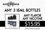 3 15ML e-Liquid Bottle Bundle