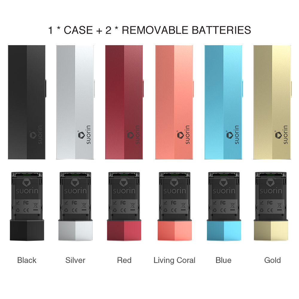 Suorin Edge Case with 2 Batteries 230mAh - No Pod Included