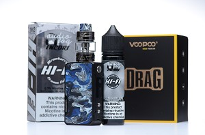 Voopoo Drag Mini Bundle Deal - 117W TC Kit with UForce T2 Tank 4400mAh and 120ml AudioFog Encore